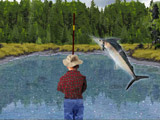Bass fishing game