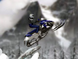 Tricks on a snowmobile