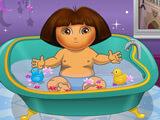 Dora Bathing
