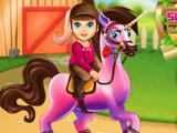 Baby Barbie Pony Caring