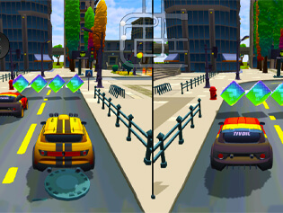 2 Player City Racing 2
